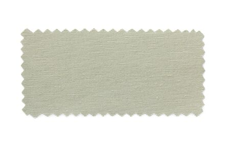 natural fabric swatch samples isolated on white background photo