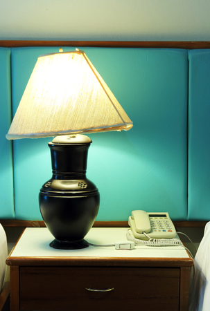 table lamp and phone photo