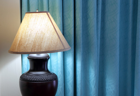 home accessories: table lamp on bedroom