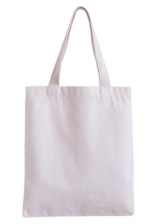 borsa in tessuto bianco isolato su sfondo bianco con percorso di clipping