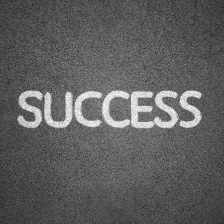 success text written on blackboard for background photo