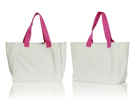 fabric bag: fabric bag on white background
