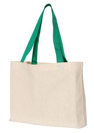 sac en tissu isolé sur blanc