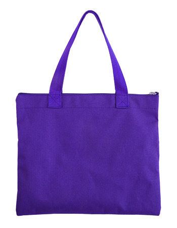blue shopping bag isolated on white background with clipping path Archivio Fotografico