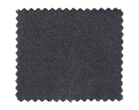 fleece fabric: black fabric swatch samples isolated on white background Stock Photo
