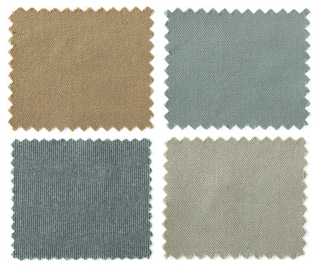 set of fabric swatch samples texture Stock Photo - 30152648
