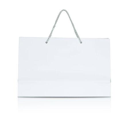 White paper shopping bag photo