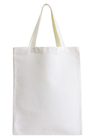bolsa de tejido aislado en fondo blanco con trazado de recorte