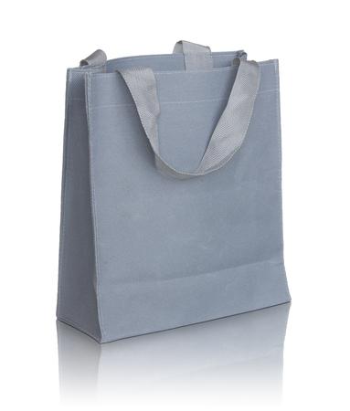 recycle bag: gray canvas bag
