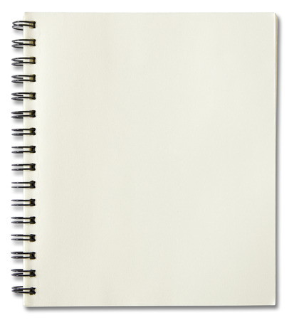 book binding: blank spiral notebook isolated on white background