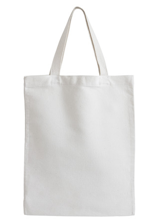 fabric bag: white fabric bag isolated on white background with clipping path