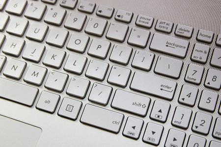 computer keyboard with gray keys