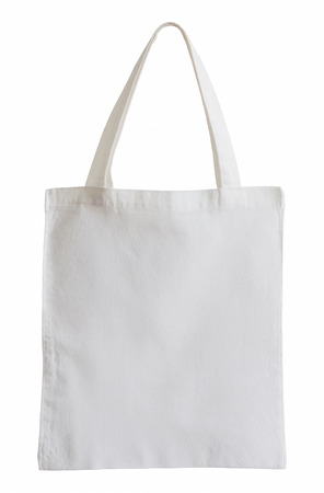 fabric bag: white fabric bag isolated on white