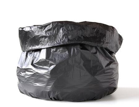 Garbage bag isolated on white photo