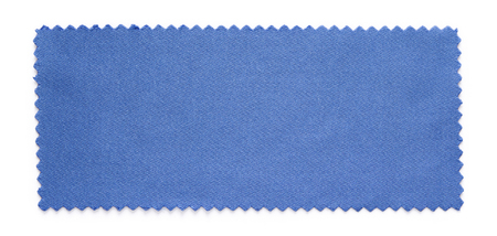 fabric cotton: blue fabric swatch samples isolated on white background