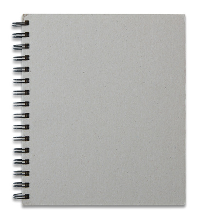 recycle notebook cover isolated on white background photo