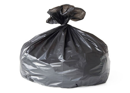 waste material: Garbage bag isolated on white background Stock Photo