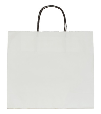 white paper bag: paper bag isolated on white with clipping path