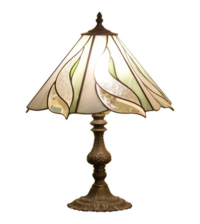 lampshade: table lamp isolated on white background with clipping path