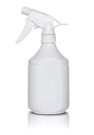 spray bottle: white spray bottle isolated on white Stock Photo