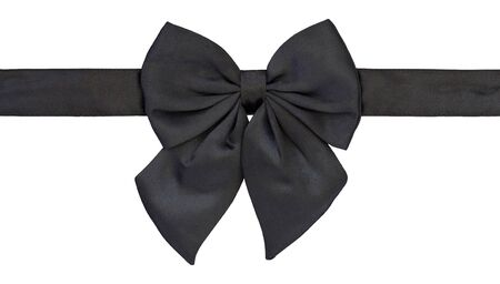 black bow tie isolated on white with clipping path photo