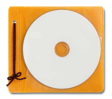 dvd case: Blank DVD case and disc isolated on white Stock Photo