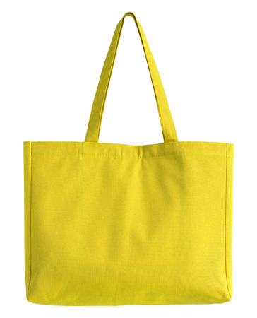 fabric bag: yellow fabric bag isolated