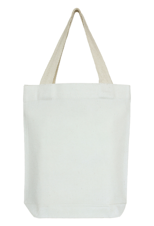 fabric bag: white fabric bag isolated on white with clipping path