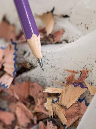 shavings: pencil with sharpening shavings