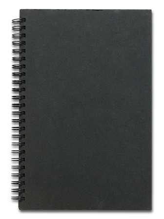 black notebook cover isolated on white background