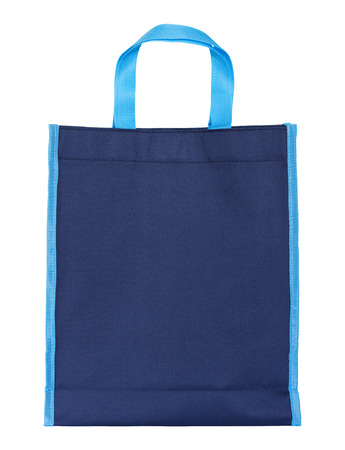 blue shopping bag isolated on white with clipping path Reklamní fotografie