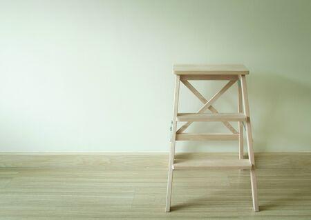 ladder: wooden ladder in the room