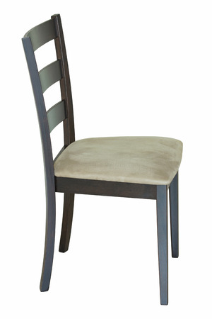 modern chair: wooden chair isolated on white with clipping path