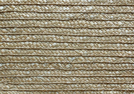 rattan mat: handcraft rattan woven texture for background Stock Photo