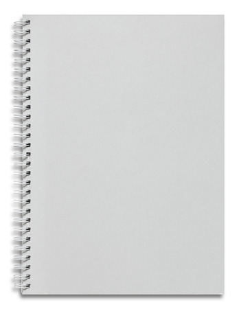 notebooks: blank white spiral notebook isolated on white Stock Photo