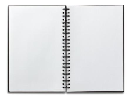 Spiraal laptop geïsoleerd op wit openen Stockfoto - 44232329