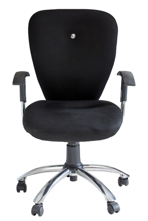 chairs: black office chair isolated on white with clipping path Stock Photo