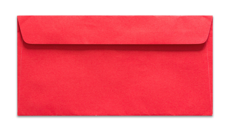 red envelope: red envelope isolated on white background Stock Photo