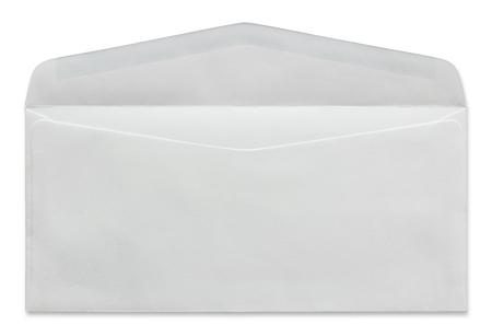 open white envelope isolated on white background