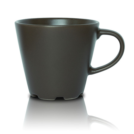 empty cup isolated on white background