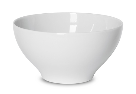 empty white bowl isolated on white with clipping path