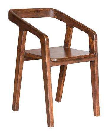 silla de madera: silla de madera aislado en blanco con trazado de recorte Foto de archivo