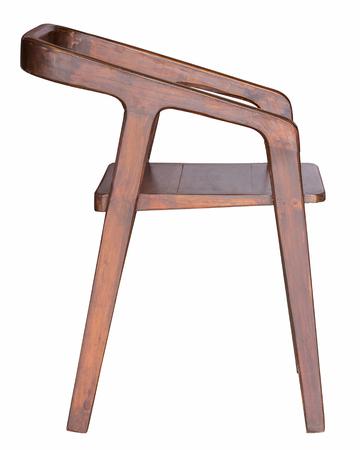 silla de madera: silla de madera aislado en blanco Foto de archivo