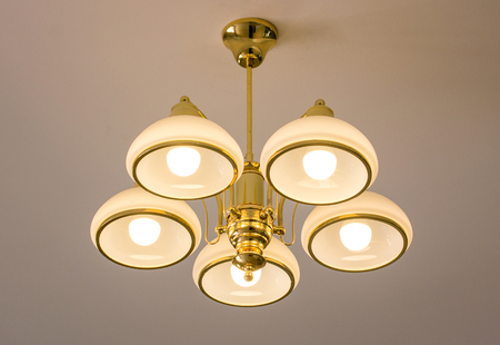 Ceiling lamp for interior decoration Stock Photo