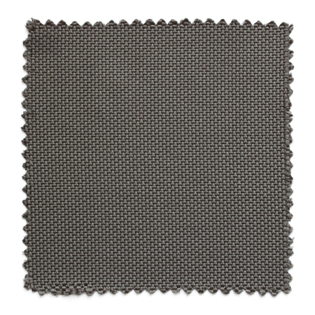 linens: dark gray fabric swatch samples isolated on white background