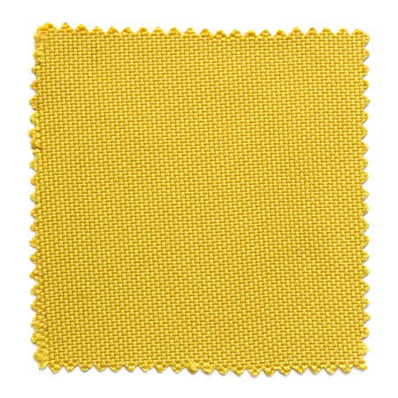 weave: yellow fabric swatch samples isolated on white background