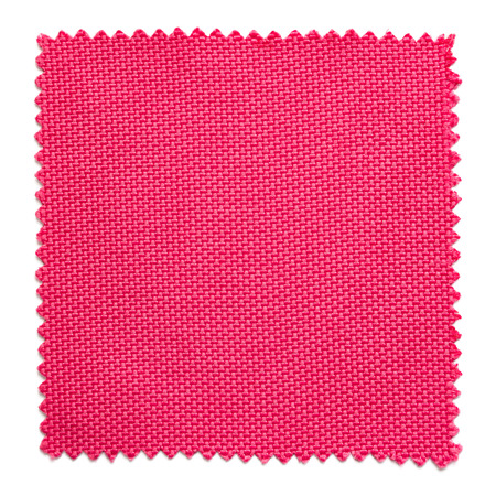 weave: pink fabric swatch samples isolated on white background