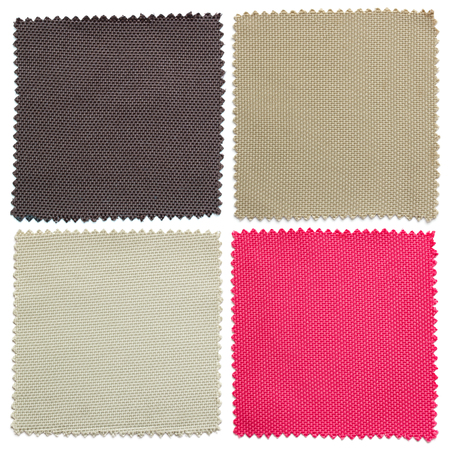 samples: set of fabric swatch samples texture Stock Photo