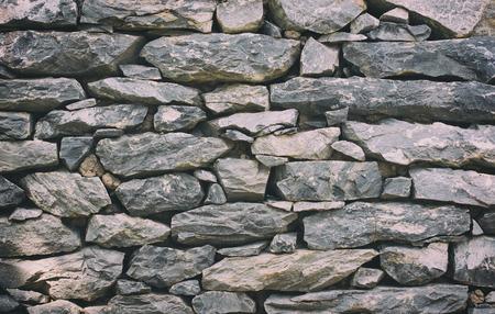 textuur: Stenen muur textuur of achtergrond - Vintage Filter Stockfoto