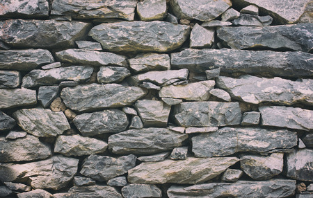 Stone wall texture or background - Vintage Filter Banco de Imagens - 55504681